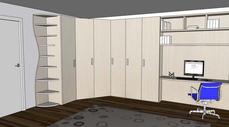 Progettazione bianchi mobili for Cameretta armadio