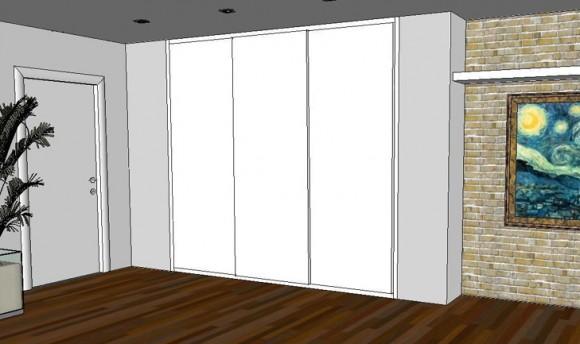 armadio ante scorrevole a muro